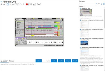 Ableton Live - Flamory bookmarks and screenshots
