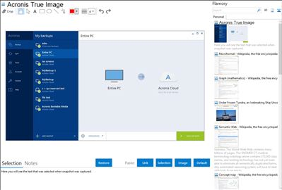 Acronis True Image - Flamory bookmarks and screenshots