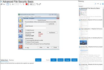 Advanced File Security Basic - Flamory bookmarks and screenshots