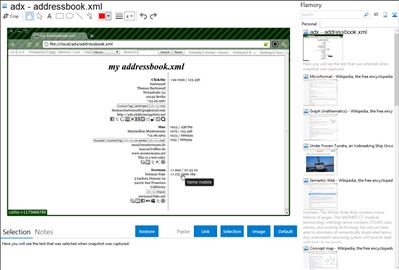 adx - addressbook.xml - Flamory bookmarks and screenshots