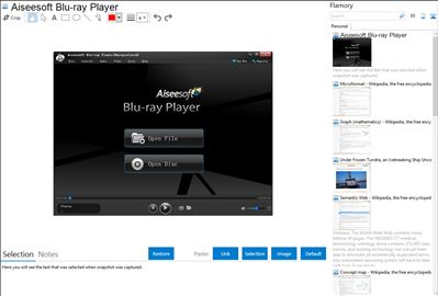 Aiseesoft Blu-ray Player - Flamory bookmarks and screenshots