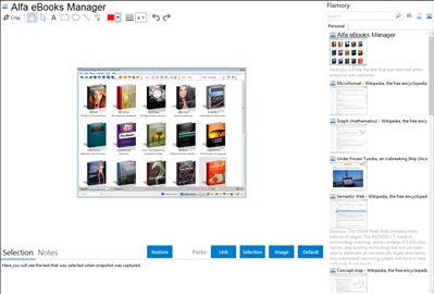 Alfa eBooks Manager - Flamory bookmarks and screenshots