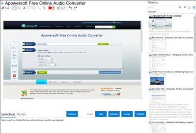 Apowersoft Free Online Audio Converter - Flamory bookmarks and screenshots