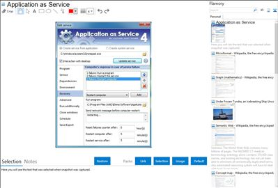 Application as Service - Flamory bookmarks and screenshots