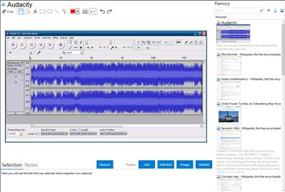Audacity - Flamory bookmarks and screenshots