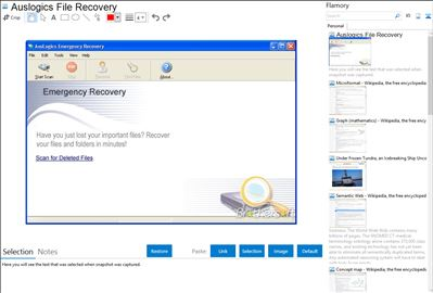 Auslogics File Recovery - Flamory bookmarks and screenshots