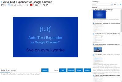 Auto Text Expander for Google Chrome - Flamory bookmarks and screenshots