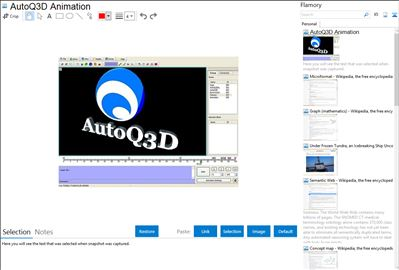 AutoQ3D Animation - Flamory bookmarks and screenshots