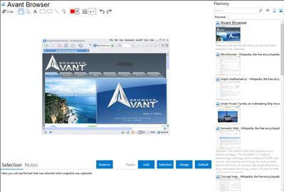 Avant Browser - Flamory bookmarks and screenshots