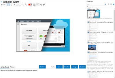 Banckle CRM - Flamory bookmarks and screenshots