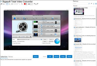 Bigasoft Total Video Converter - Flamory bookmarks and screenshots