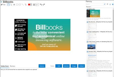 Billbooks - Flamory bookmarks and screenshots