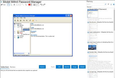 Bitobit Mithril Password Manager - Flamory bookmarks and screenshots