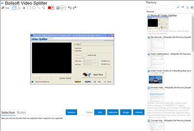 Boilsoft Video Splitter - Flamory bookmarks and screenshots