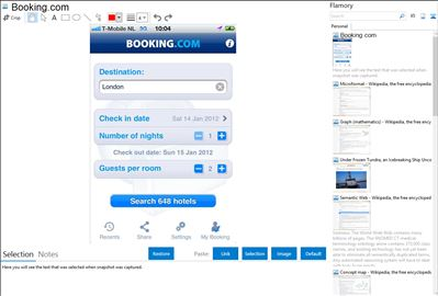 Booking.com - Flamory bookmarks and screenshots