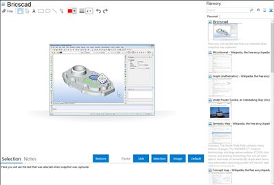 Bricscad - Flamory bookmarks and screenshots