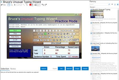Bruce's Unusual Typing Wizard - Flamory bookmarks and screenshots