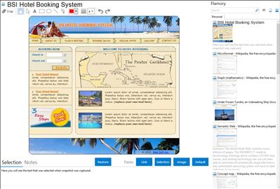 BSI Hotel Booking System - Flamory bookmarks and screenshots