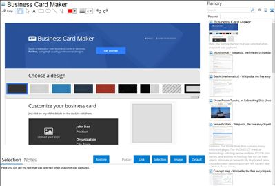 Business Card Maker - Flamory bookmarks and screenshots