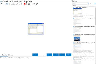 CaDE - CD and DVD Explorer - Flamory bookmarks and screenshots
