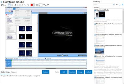 Camtasia Studio - Flamory bookmarks and screenshots
