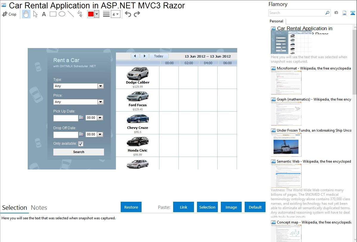 Car Rental Application in ASP.NET MVC3 Razor integration with Flamory