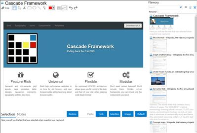 Cascade Framework - Flamory bookmarks and screenshots
