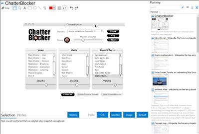 ChatterBlocker - Flamory bookmarks and screenshots