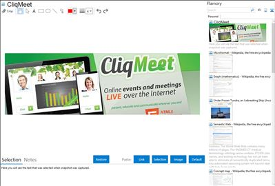 CliqMeet - Flamory bookmarks and screenshots