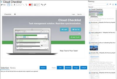 Cloud Checklist - Flamory bookmarks and screenshots