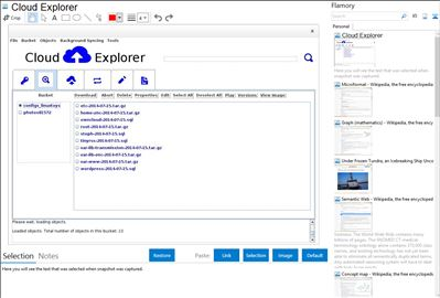 Cloud Explorer - Flamory bookmarks and screenshots