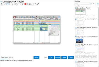 ConceptDraw Project - Flamory bookmarks and screenshots