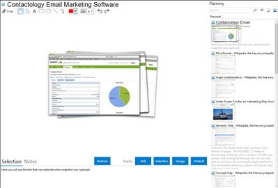 Contactology Email Marketing Software - Flamory bookmarks and screenshots
