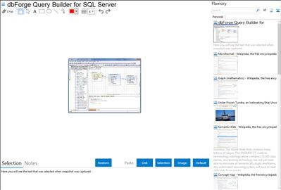 dbForge Query Builder for SQL Server - Flamory bookmarks and screenshots