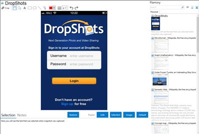 DropShots - Flamory bookmarks and screenshots