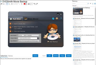 DVDSmith Movie Backup - Flamory bookmarks and screenshots