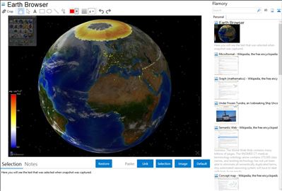 Earth Browser - Flamory bookmarks and screenshots