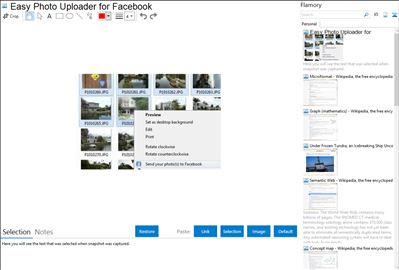 Easy Photo Uploader for Facebook - Flamory bookmarks and screenshots