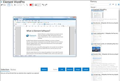 Element WordPro - Flamory bookmarks and screenshots