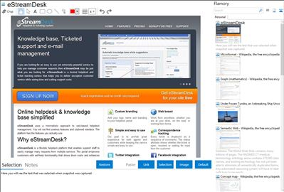 eStreamDesk - Flamory bookmarks and screenshots