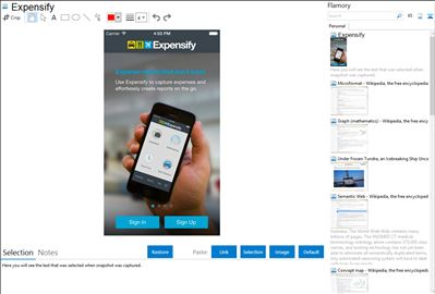 Expensify - Flamory bookmarks and screenshots