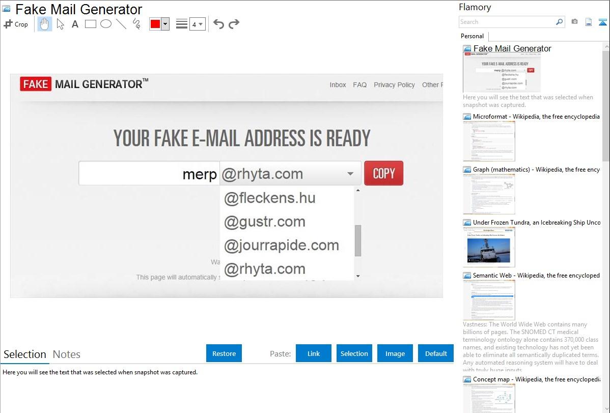 Fake address generator