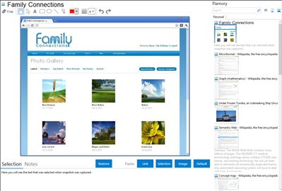 Family Connections - Flamory bookmarks and screenshots