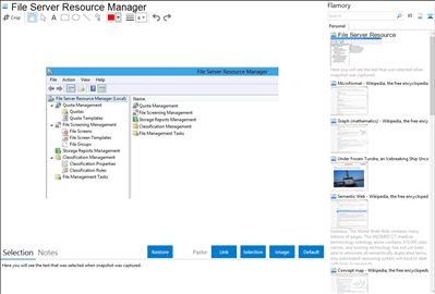 File Server Resource Manager - Flamory bookmarks and screenshots