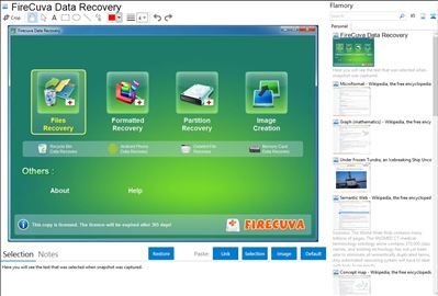 FireCuva Data Recovery - Flamory bookmarks and screenshots