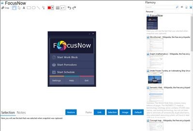 FocusNow - Flamory bookmarks and screenshots