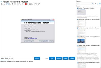Folder Password Protect - Flamory bookmarks and screenshots