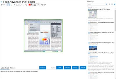 Foxit Advanced PDF Editor - Flamory bookmarks and screenshots