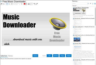 Free Music Downloader - Flamory bookmarks and screenshots