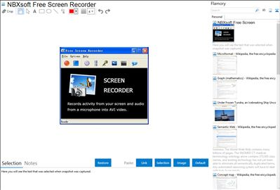 NBXsoft Free Screen Recorder integration with Flamory